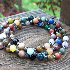 Mixed Gemstone Stackable Stretch Bracelets  Pile em by Angelof2, $32.00