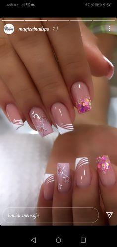 Manicure And Pedicure, Gel Nails, Magic Nails, Nail Jewels, Gold Glitter Nails, Nail Tattoo, Gel Nail Colors, Elegant Nails, Bridal Nails