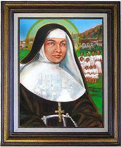 St Marianne of Molokai Portrait painted on Molokai by Molokai fine artist, Linda Johnston