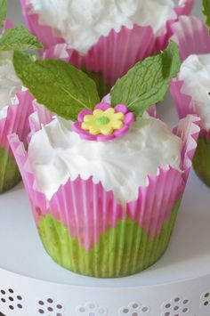 """Coconut Surprise Key Lime Cupcakes Recipe by Fancy Shanty Brought to you by BlogHer and Disney's """"The Pirate Fairy,"""" an All-New Tinker Bell Movie on Blu-ray and Digital HD Now ~Erin"""