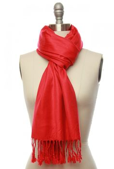 Red Shimmer Scarf