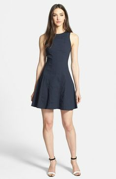 Theory 'Maydra T.S.' Linen Blend Fit & Flare Dress | Nordstrom