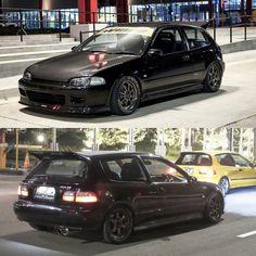 Great lookin Civic hatchbacks. Honda Civic Vtec, Honda Civic Hatchback, Hatchback Cars, Civic Eg, Honda City, Honda Bikes, Car Goals, Japanese Cars, Jdm Cars