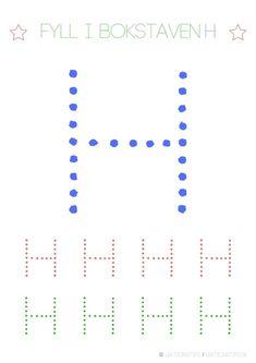 Lär dig skriva hela alfabetet med dessa färgglada bokstäver i färgerna röd, grön och blå – Lektionstips Tracing Letters, Line Chart, Preschool, Lily, Teaching, Toddlers, Education, Inspiration, Alphabet