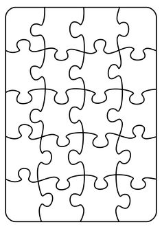 25 Jigsaw Puzzle Blank Template Download From Over 66