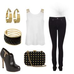 """club outfit"" by caseybennett on Polyvore << cute even tho I haven't been to a club in about a year."