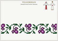 Motiv Cross Stitch Borders, Cross Stitch Designs, Cross Stitch Patterns, Folk Embroidery, Cross Stitch Embroidery, Embroidery Patterns, Mexican Pattern, Blackwork Patterns, Palestinian Embroidery