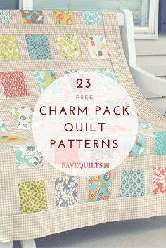 Grab your quilts, because we've got a list of 17 way you can turn them into charm quilt patterns, small quilt projects for your home, and more. You can make something as small as a quilt block look much more exciting with the right charm quilt pattern. Charm Pack Quilt Patterns, Charm Pack Quilts, Charm Quilt, Baby Quilt Patterns, Quilting Patterns, Easy Patterns, Sewing Patterns, Canvas Patterns, Craft Patterns