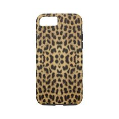 Leopard Print iPhone 7 Case ($42) ❤ liked on Polyvore featuring accessories, tech accessories, animals, cat and leopard