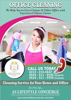 Istanbul Filipino Maids by AS Lifestyle Concierge and Real Estate Ltd. Sti.: Office Cleaning Service