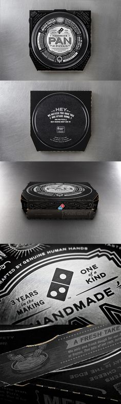 Domino's Handmade Pizza boxes Designed by CP+B