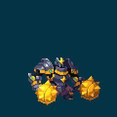 Unreleased Duelyst Minion - Sunsteel Defender