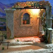 Juan Fontanini Nativity, Nativity Stable, Stage Set Design, Easter Pictures, Christmas Nativity, Activity Days, Main Street, Scene, Landscape