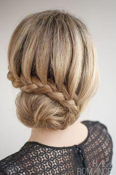 Love this simple braid and bun. xo