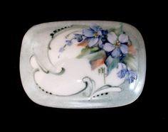 Hand Painted Porcelain Ring Trinket by KarlaPendletonStudio