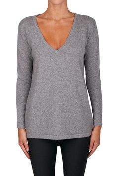 Luxe Vee Neck Sweater