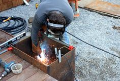 What's a good activityfora crisp fall weekend? Welding, naturally. In our deck reveal postlast month, we showed you the raw steel panels that we bought off Craigslist and had cut by a loca…