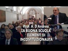 Prof. A. D'Andrea, LA BUONA SCUOLA, ELEMENTI DI INCOSTITUZIONALITA'
