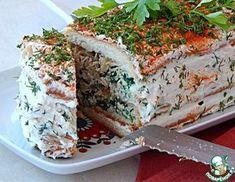 Рецепт: Закусочный торт с брынзой и шпинатом