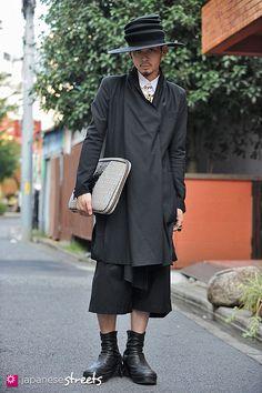 Aran Yoshioka  harajuku, tokyo  Mode  AUTUMN 2012, guys  Kjeld Duits    SHOP ASSISTANT, 20    Hat – uncommon creatures  Jacket – Avan trance  Shirt – Juun.j  Shorts – Avan trance  Boots – Julius  xxx_aran @ twitter