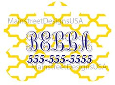 Monogram Personalized Dog Pet ID Tag Name Classic Pattern Yellow And White Pet Accessory Supply Dog Lover Gift 1 by MainStreetDesignsUSA on Etsy https://www.etsy.com/listing/493303773/monogram-personalized-dog-pet-id-tag