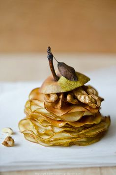 Pear millefeuilles.