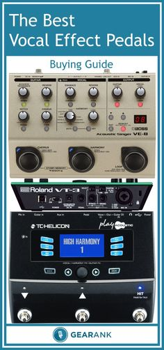 The Best Vocal Effects Pedal / Processor Guide. In addition to a recommended list of the highest rated vocal effects pedals designed to be used on stage by singers and singer-guitarists, this guide also explains the major effects types and the various approaches to implementing them in different pedals – all of this information makes it easier to work out which one will best suit your circumstances.