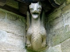 Red Dragon Gargoyle .... Saint Cadwalader's Church. Llangadwaladr, Anglesey
