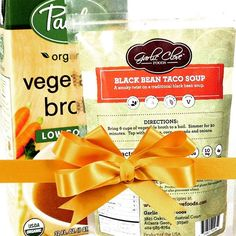 It's 12 Days of Garlic Clove Foods Gift Ideas! Day 2: Black Bean Taco Soup for the Soul.  The perfect gift for those who are timid in the kitchen! Pick up a small saucepan and wooden spoon from your favorite kitchen supply store and pack it up with our Black Bean Taco Soup and low sodium chicken or vegetable broth for the gift of a one pot weeknight meal that's ready in just 20 minutes!