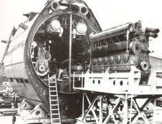 German WWII Class XXI boat under construction