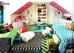 Love the white walls, and the bright colors