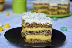 Prajitura Victoria | MiremircMiremirc Krispie Treats, Rice Krispies, Food Cakes, Cake Recipes, Victoria, Cooking, Pies, Sweet, Cakes
