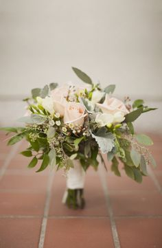 Rose Freesia and Eucalyptus Bouquet