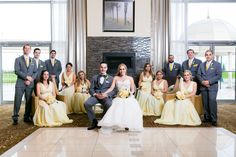 Gray Weddings, Bridesmaid Dresses, Wedding Dresses, Yellow, Grey, Fashion, Grey Weddings, Bride Maid Dresses, Bride Gowns