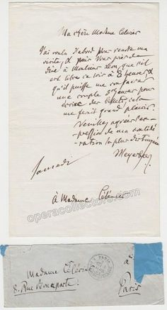 Meyerbeer, Giacomo - Autograph Letter Signed