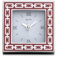 Silver Link Poppy Clock by Reed & Barton