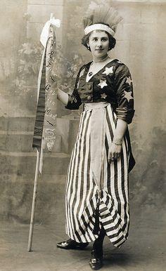 In fancy dress as America