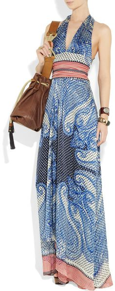 Summer party here I come!  Etro Maxi dress Spring 2012