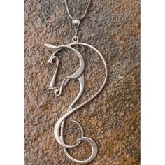 Arabian Horse necklace...use this as guide for a tatt on top of foot.  ??