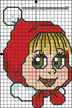 schema punto croce Masha 28 punti