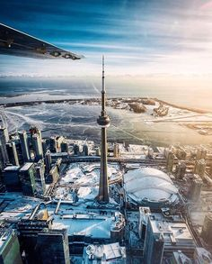 Winter flights over Toronto are pretty great. Hope you like this pic I took of the CN tower. Toronto Ontario Canada, Toronto City, Art Toronto, Toronto Photography, Lifestyle Photography, Winter Wallpaper, Canada Eh, Canada Goose, Travel Abroad