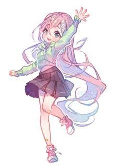 Original - Hi hi hey by Hyanna-Natsu on DeviantArt Loli Kawaii, Kawaii Chibi, Kawaii Anime Girl, Anime Art Girl, Kawaii Doodles, Dibujos Anime Chibi, Cute Anime Chibi, Anime Neko, Chibi Girl Drawings