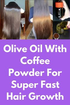 Olive Oil With Coffee Powder For Super Fast Hair Growth Learn the way to Grow hair and increase your hair length with this easy homemade remedy. Now you hair growth getting long hair is not an issue . It works on both curly and straight hair it works on a Hair Remedies For Growth, Home Remedies For Hair, Hair Growth Treatment, Hair Growth Tips, Healthy Hair Growth, Hair Tips, Hair Growth Shampoo, Castor Oil For Hair Growth, Hair Grow Faster