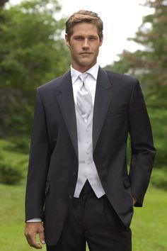 Ralph Lauren - Newport - Wedding Tuxedos - Black Tux www.MadamPaloozaEmporium.com www.facebook.com/MadamPalooza