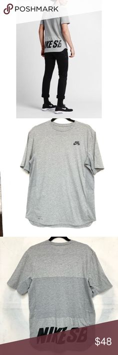 bf88e2eb Nike SB Dri Fit Skyline Men's Grey T-Shirt Nike SB Dri Fit Skyline Men's