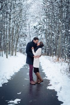 Romantic Winter and Christmas Themed Engagement Session in the foothills of the Candian Rocky Mountains