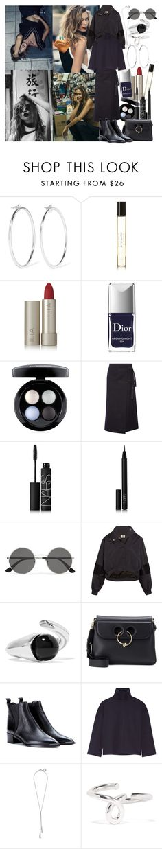 """""""And I will say that we should take a day to break away from all the pain our brain has made, the game is not played alone"""" by brownish ❤ liked on Polyvore featuring Jennifer Fisher, Byredo, Ilia, Christian Dior, MAC Cosmetics, Sacai, NARS Cosmetics, Yves Saint Laurent, Topshop Unique and Sophie Buhai"""