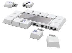 Teclas USB aunque también parecen cuadros de chocolate.