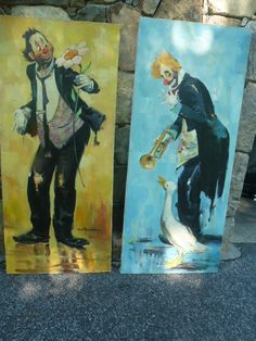 Pair of Clowns signed Rico Tomaso, DAC Collection - Donald Art Company Collection