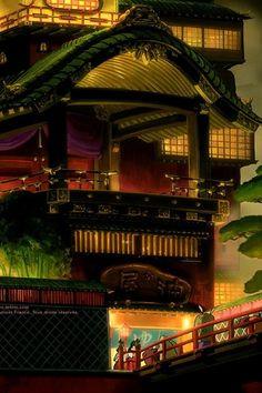 Ghibli Spirited Away background art